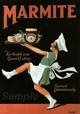 VINTAGE MARMITE ADVERTISING A4 POSTER PRINT