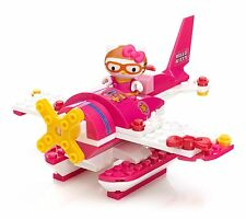 NEW RARE HTF MEGA BLOKS 10933 HELLO KITTY VACATION SERIES AIRPLANE 75PC PLAY SET