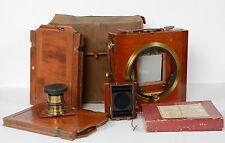 Watson & Norris Folding Mahogany & Brass Box Camera Sheffield