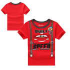 Nwt- Summer Kids Baby Boys Cars Short Sleeve Tops T-shirt Tees Size 2-7Y