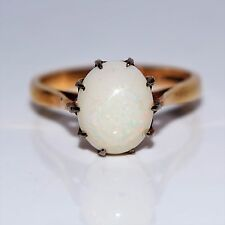 Vintage Large Opal 9ct Yellow Gold Ring size 0 ~ 7 1/4
