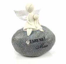 Beautiful Crafted Love You Mum Angel On Sentimental Pebble DJX016-HS
