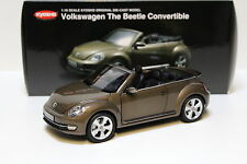 1:18 Kyosho VW The Beetle Convertible brown NEW bei PREMIUM-MODELCARS