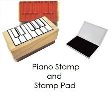 Piano Fingering Rubber Stamp and Stamp Pad Set.  Scales, Chords so many uses!