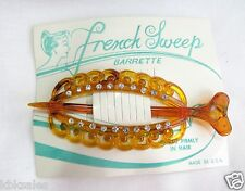 #361 Vintage Hair Barrettes French Tortoise Shell color Barrette