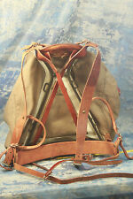 Vintage Military Canvas Metal Frame Backpack Rucksack Swedish Crown WW II? NICE!