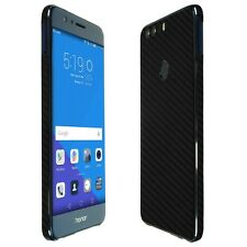 Skinomi Black Carbon Fiber Skin+Clear Screen Protector for Huawei Honor 8