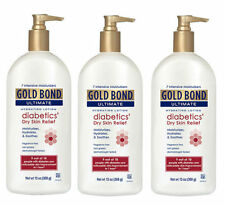 3 PACK Gold Bond Ultimate Diabetic Dry Skin Relief Lotion 13oz 041167053508