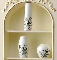 1:12 Scale Ceramic Vase Pots Dolls House Miniature Flower Ornament Accessory