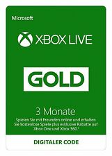 Xbox Live Gold 3 Monate EU Mitgliedschaft Code One 360 month - SOFORT PER MAIL