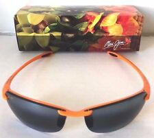 NIB MAUI JIM Makaha Rimless Sports Sunglasses Clemson Frame Gray Lens $189 Case