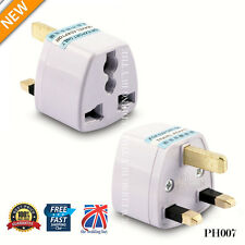 3 PIN PLUG TRAVEL ADAPTOR Universal USA* EU*CHINA*ASIA*AUSTRALIA to UK G PH007