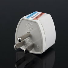 AU UK EU to US AC Power Plug Adapter Adaptor Converter Outlet Home Travel Wall^^