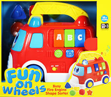 Fun On Wheels - Busy Fire Engine  Shape Sorter - Keenway ** GREAT GIFT **