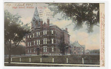 High School Webster City Iowa 1907 postcard
