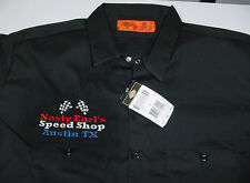 DICKIES NASTY EARL'S SPEED SHOP AUSTIN TEXAS RACING MECHANIC WORK SHIRT 2X XXL