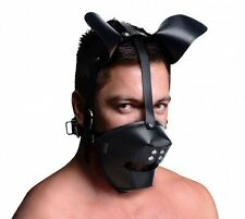 DOG PUPPY MUZZLE MASK face mouth ball gag hood head adult costume halloween gear