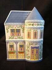 Lenox Fine Porcelain Village House Shaped Planters Blue ~ Mint