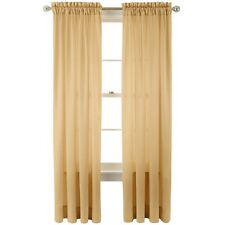 RoyalVelvet Hilton Rod-Pocket Curtain Panel Crinkled Fabric Pure Gold 54X84 A632