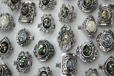 Fashion Jewelry Lots 30pcs Resin shell Silver P Oversize Trendy Wonderful rings