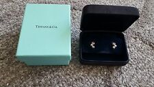 Tiffany & Co. Bubble Diamond & Pink Sapphire Platinum Earrings w/Box