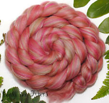 BROCADE - Merino Tussah Silk Firestar Blend Combed Top Wool Roving 4 oz