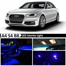 18x Blue Interior LED Lights Package Kit for 2009-2015 Audi A4 S4 B8 Error Free
