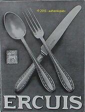PUBLICITE ERCUIS ORFEVRERIE COUVERTS ARGENT POINCON CENTAURE 1928 FRENCH AD PUB