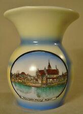 Westpreußen Marienburg Porzellan Spritzdekor Art Deco Andenken Vase Malbork