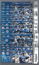 2014 MLB BLUE JAYS BASEBALL ALMOST COMPLETE SEASON FULL TICKETS 83/84 GAMES