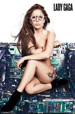 LADY GAGA ~ HARD WIRED 22x34 MUSIC POSTER Artpop Circuit Board NEW/ROLLED!