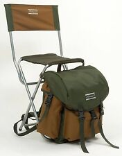 Shakespeare Folding Chair With Rucksack & Back Rest Lightweight Fishing Luggage