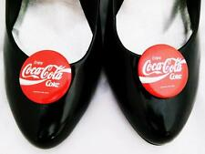 Coca Cola Shoe Clips For Your Shoes Red White Vintage Coke Xmas Pinup Clips