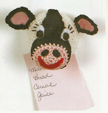 Crochet Pattern ~ FARM ANIMAL MAGNETS, Cow, Horse, Puppy, Cat ~ Instructions