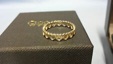 Welsh Clogau 9ct Yellow Gold Heart Affinity Stacking Ring Size N RRP £250