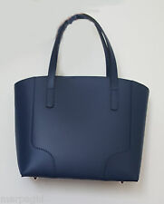 borsa da donna in vera pelle made in italy nuova  bag leather blu  palmellata