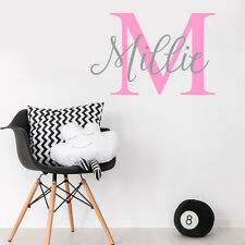 Custom Name Personalise  Baby Girl Room Wall Sticker Nursery Decal Decor