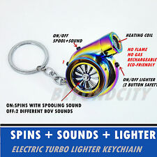 Rechargeable Electric Turbo Lighter keyring keychain Colorful with BOV sound