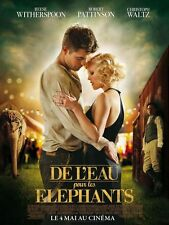 Affiche 40x60cm DE L'EAU POUR LES ÉLÉPHANTS /WATER FOR… 2011 Pattinson NEUVE