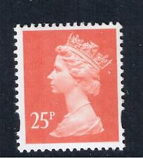 GB QEII SG Y1690 25p Rose-Red. 2B. Elliptical. Machin Definitive (ex Y1684)