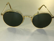 49[]21mm VINTAGE BAUSCH & LOMB RAY BAN G15 UV ARISTA ROUND AVIATORS SUNGLASSES
