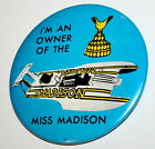 Rare Vintage Im an Owner Miss Madison 80s Hydro Race Boat Racing Team Button Pin
