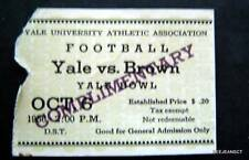 Brown vs Yale University College Football Ticket Stub Yale Bowl Oct  6 1958