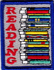 """READING"" - BOOIKS - SCHOOL - READER - EDUCATION - Iron On Embroidered Patch"