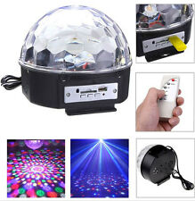 Remote USB/SD Card MP3 Magic Crystal Led Ball Light RGB For Disco DJ Party Xmas