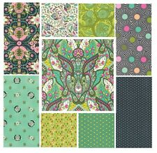 9 Fat quarter bundle Slow & steady Strawberry Kiwi palette by Tula Pink