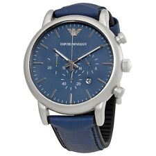 Emporio Armani Luigi Chronograph Blue Dial Mens Watch AR1969