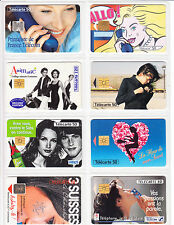 8 TELECARTE / PHONE CARD .. FRANCE 50U PACK FILLE SEXY GIRL 1  MIX PUCE C.12€