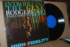 INTRODUCING THE GENE RODGERS TRIO: JAZZ COMES TO THE ASTOR; 1958 VG++ LP; NO CD