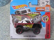 Hot Wheels 2016 #153/250 CUSTOM FORD BRONCO red HW Daredevils Case D